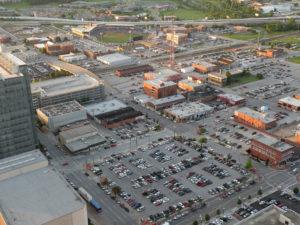 Downtown Tulsa Parking Crater
