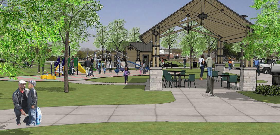 Hawthorne Park trailhead rendering