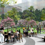 pedestrian green space amenities
